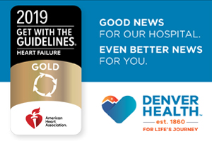 Denver Health Gold for Heart Failure 2019 Recognition Badge