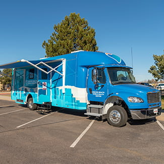 Denver Health's new Mobile Health Center offers COVID-19 testing at the Lowry Family Health Center