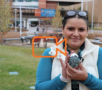 Denver Health Patient Margie Garcia Paints Rocks